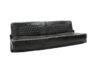 "68"" Toy Hauler Wall mount Flip Sofa in Chocolate Grey"
