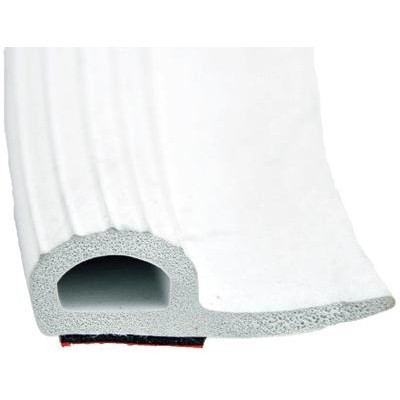 Rubber Slide Out Seal w/ Tape White 35 ft