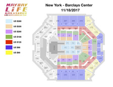 Mayday Life Tour New York Barclays Seating Chart 2017