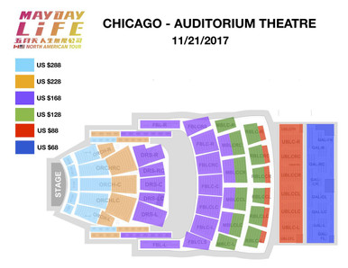 Mayday Life Tour Chicago Auditorium Theater Seating Chart 2017