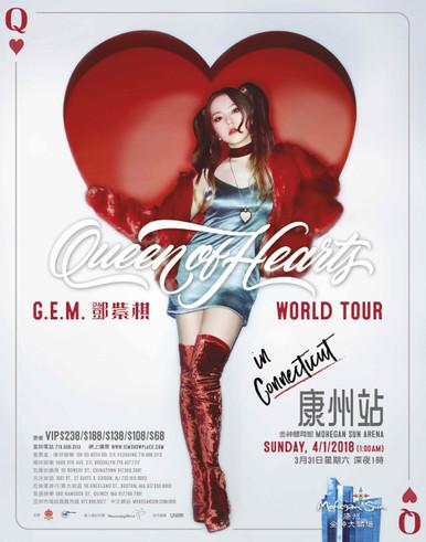 "G.E.M. ""QUEEN OF HEARTS WORLD TOUR 2018 - CONNECTICUT | 鄧紫棋 ""Queen Of Hearts"" 世界巡迴演唱会 - 康州站"