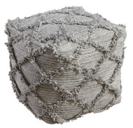 Adelphie Natural/Gray Pouf