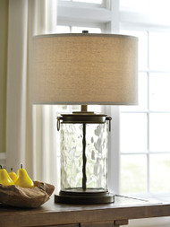 Tailynn Clear/Bronze Finish Glass Table Lamp