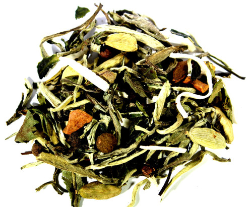 white coconut chocolate chai loose leaf tea