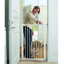 BabyDan Pet Gate - White Inc 1 Ext (73-86cm; Max 120)