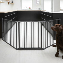 Babydan Scandinavian Pet Configure Extra Tall Gate  with dog