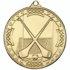 Hurling Celtic Medal - Gold 2In