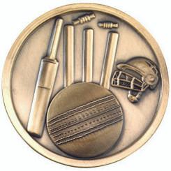 Cricket Medallion - Antique Silver 2.75In