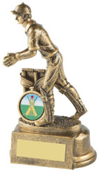 """Gold Wicket Keeper Cricket Trophy - TW18-067-RS314 - 15cm (6"""")"""