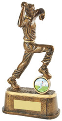 "Gold Cricket Bowler Award - TW18-067-RS709 - 17.5cm (7"")"