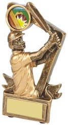"Gold Resin Cricket Batsman Trophy - TW18-068-RS618 - 13cm (5"")"