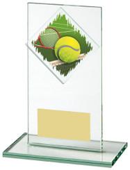 "Jade Glass Tennis Award - TW18-090-435ZDP - 14cm (5 1/2"")"