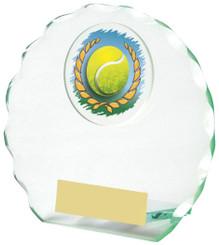 "Jade Glass Tennis Award - TW18-090-436ZCP - 11cm (4 1/4"")"
