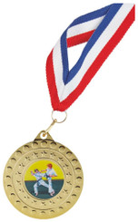 50mm Medal with Ribbon - Bronze - bag of 10 - TW18-129-MDR049BB