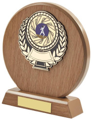 "Light Wood Circle Sports Award - TW18-116-631AP - 18cm (7"")"