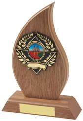 "Light Wood Effect Flame Award - TW18-116-162CP - 14cm (5 1/2"")"