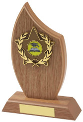 "Light Wood Effect Sail Award - TW18-117-161CP - 14cm (5 1/2"")"