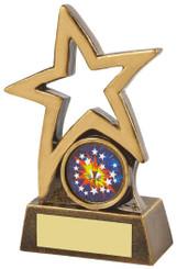 "Gold Resin Shooting Star Award - TW18-109-RS639 - 9cm (3 3/4"")"