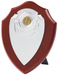 "Chrome Fronted Shield Trophy - TW18-119-170BP - 18cm (7"")"