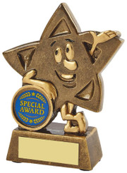 """Gold Resin Star Character Award - TW18-112-RS679 - 11.5cm (4 3/4"""")"""
