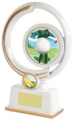 """White Resin Men's Golf Award - TW18-154-641ZBP - 19cm (7 1/2"""")"""