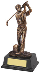 "Gold Figure Golf Award for Longest Drive - TW18-159-RS130 - 17.5cm (7"")"