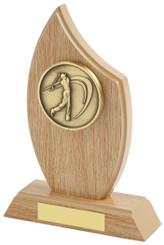 """Light Wood Effect Sail Award for Men's Golf - TW18-172-314B - 16.5cm (6 1/2"""")"""
