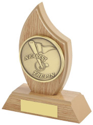 "Light Wood Effect Sail Award for Golf Nearest the Pin - TW18-172-315A - 14cm (5 1/2"")"