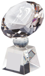 "Crystal Diamond Award for Ladies' Golf - TW18-162-T.0382 - 11cm (4 1/4"")"