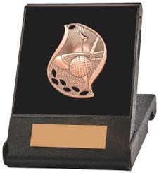 Flame Design Golf Medal in Presentation Case - TW18-170-T.1235 - Gold
