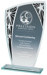 "Budget Glass Stand with Black Star Trim - TW18-177-T.3668 - 18.5cm (7 1/4"")"