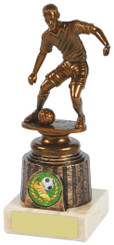 "Antique Gold Footballer Trophy - 17.5cm (6 3/4"") - TW18-018-741A"
