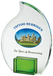 "20cm Crystal Flame Award for Colour Print - TW18-187-T.7235CP-G - 20cm (8"")"