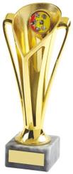 """Gold Plastic Trophy Cup - TW18-042-539D - 14.5cm (5 3/4"""")"""