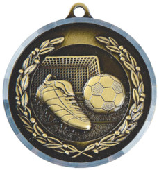 50mm Boot & Ball Football Medal with Diamond Milled Edge - TW18-036-MD012G
