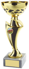 """Gold & Black Trophy Cup - TW18-050-547E - 17cm (6 3/4"""")"""