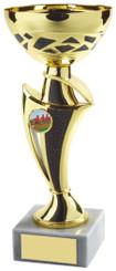 """Gold & Black Trophy Cup - TW18-050-547C - 24cm (9 3/4"""")"""