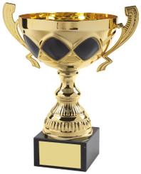 """Gold & Black Trophy Cup - TW18-053-554C - 21cm (8 1/4"""")"""