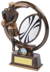 """Gold Resin Men's Rugby Player Award - TW18-065-RS588 - 21.5cm (8 1/2"""")"""