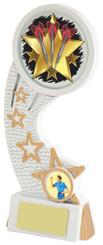 """White/Gold Darts Resin Star Holder - TW18-071-777ZEP - 14cm (5 1/2"""")"""