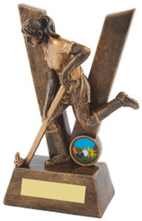 "'V' is for Victory Gold Ladies' Hockey Award - TW18-085-RS506 - 16cm (6 1/4"")"