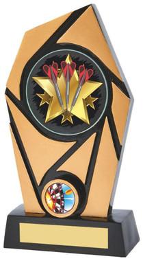"Black/Gold Resin Holder Darts Award - TW18-073-781ZBP - 18cm (7"")"
