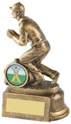 "Gold Cricket Fielder Trophy - TW18-067-RS313 - 14cm (5 1/2"")"