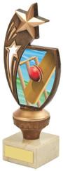 "Antique Gold Cricket Star Award - TW18-069-776C - 17cm (6 3/4"")"
