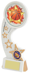 """White Resin Basketball Award - TW18-082-585ZBP - 19.5cm (7 3/4"""")"""