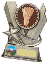 "Badminton Metal Stand Award - TW18-083-794CP - 10cm (4"")"