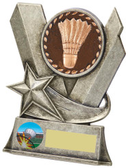 "Badminton Metal Stand Award - TW18-083-794BP - 11.5cm (4 1/2"")"