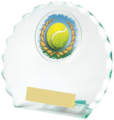 "Jade Glass Tennis Award - TW18-090-436ZBP - 12cm (4 3/4"")"