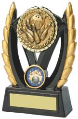"""Black & Gold Ten Pin Bowling Resin Award - TW18-093-828BP - 12.5cm (5"""")"""