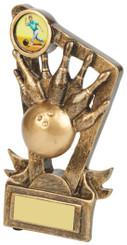 "Gold Resin Ten Pin Bowling Trophy - TW18-093-RS627 - 13cm (5"")"